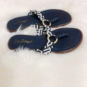 Lilly Pulitzer Basket Weave Sandals